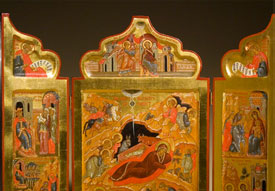 Triptych of the Holy Nativity of Christ by Ksenia Pokrovsky. Photo by Jason Dowdle.